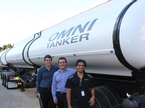 L-R: Garth Pearce, Academic Mentor; Luke Djukic, Chief Technical Officer Evolution Tankers; Thinu Herath, Intern.
